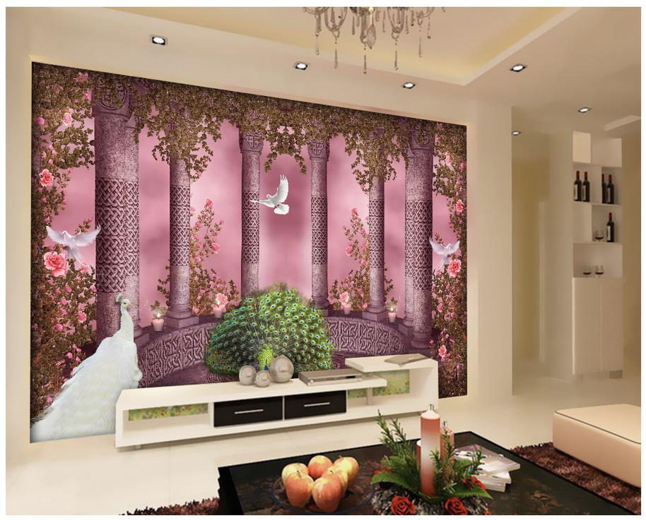 Custom 3d photo wallpaper home decoration roman column for 3d wallpaper home decoration