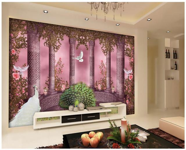 custom 3d photo wallpaper Home Decoration Roman column arches ...