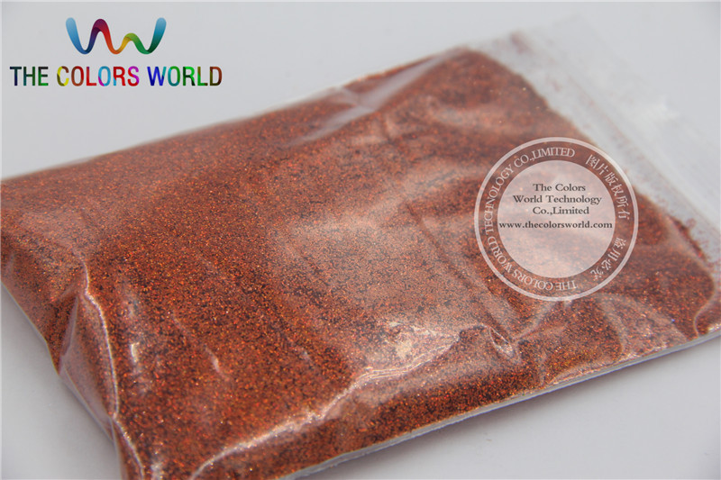 0 2MM Laser Orange Glitter Powder Dust For Nail Art Make Up Body Painting And Others