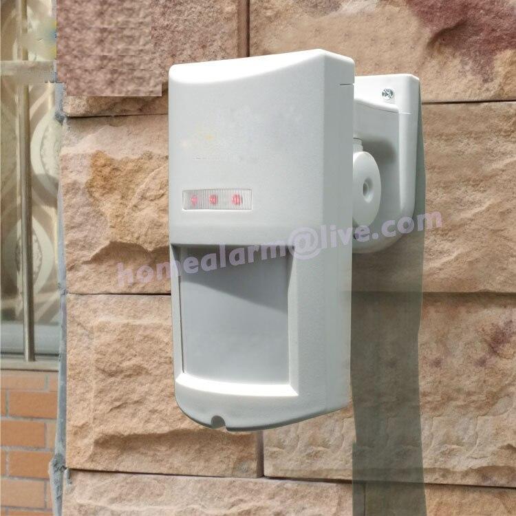 10pcs DHL Shipping Remarkable Wireless Outdoor Pet Immune PIR Detector,External Anti-white light Motion Sensor for Alarme Casas 315mhz chuango wireless curtain pir motion detector chuango pir 800 for home dhl free shipping