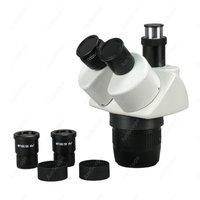 Aletler'ten Cihaz Parçaları ve Aksesuarları'de Mikroskop Kafa AmScope Malzemeleri 10x 15x 30x 45x Süper Widefield Stereo Trinoküler Mikroskop Kafası