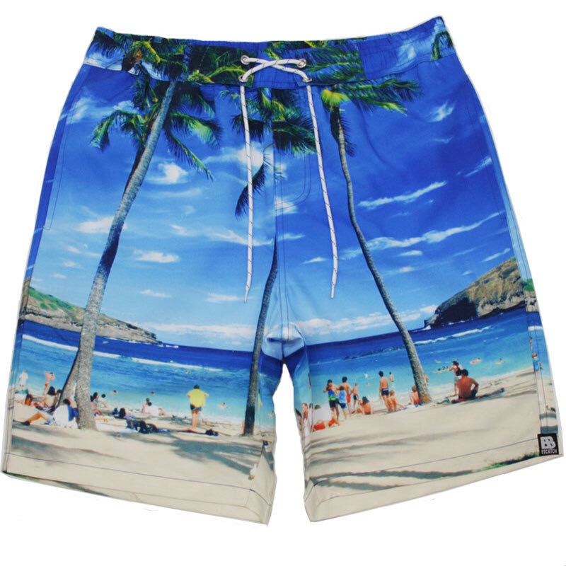 Topdudes.com - Men's Quick Dry Beach Shorts Print Summer Swim Board Shorts