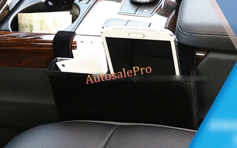 Interior Center Console Black storage box <font><b>Phone</b></font> <font><b>Holder</b></font> For <font><b>Mercedes</b></font> Benz E Class W212 2010 2011 2012 2013