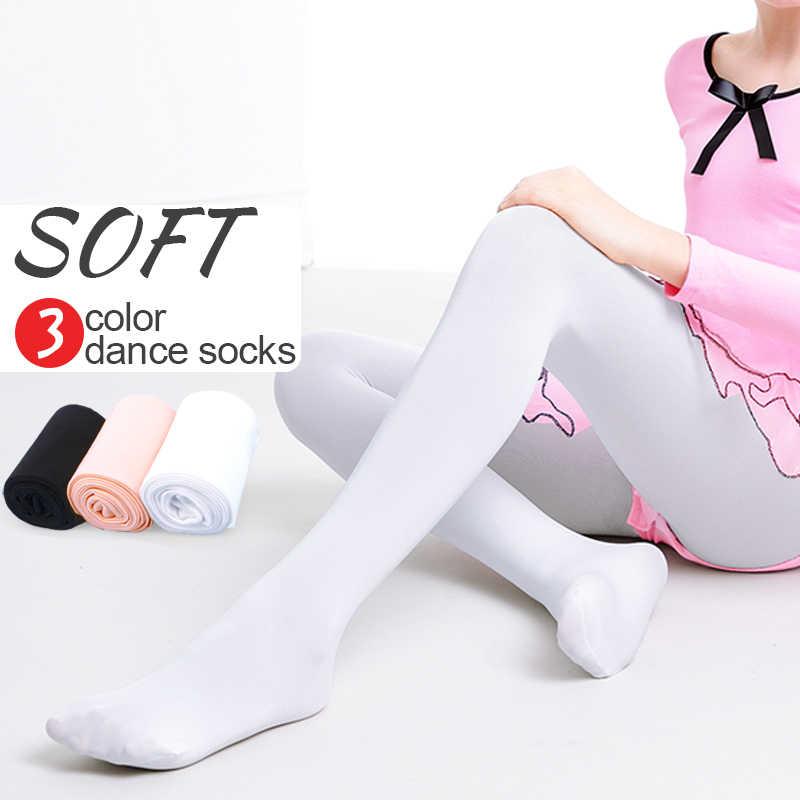 Calças de balé feminino meias de dança sem costura com pés meninas calças de balé 80d