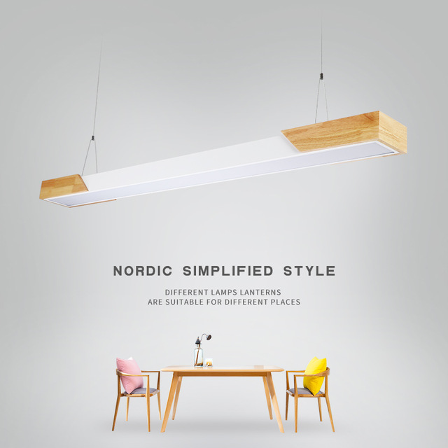 Modern fashion Wood light for living room Restaurant dinning pendant light luminaire industriel kitchen de hanging light fixture in Pendant Lights from Lights Lighting