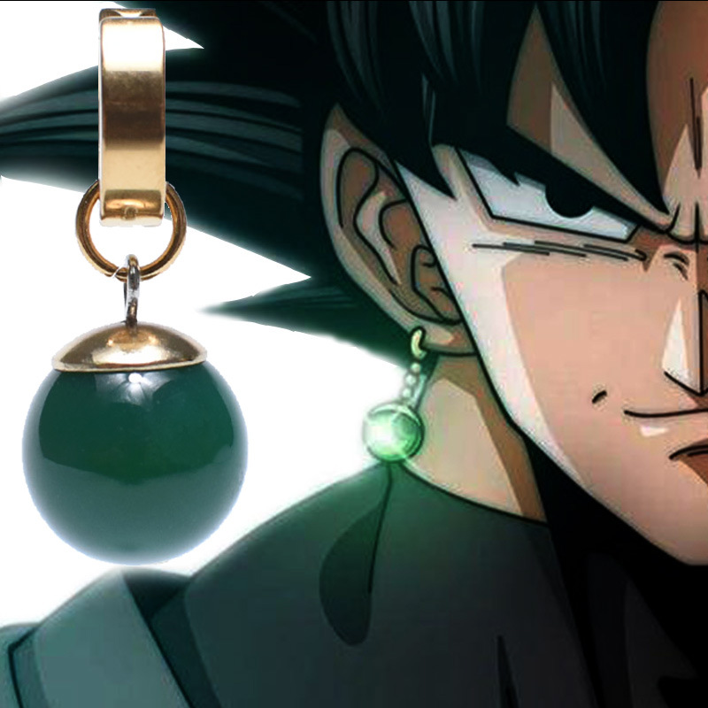 Anime  Super Dragon Ball Eardrop Vegetto Potara Earring Black Son Goku cosplay Zamasu Time prop Cosplay Costume