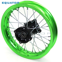 motorcycle Pit bike Rim of 1.85x12inch Rear Wheel Rim 80/100 12inch Aluminium dirt bike wheel Rims hub of 15mm hole