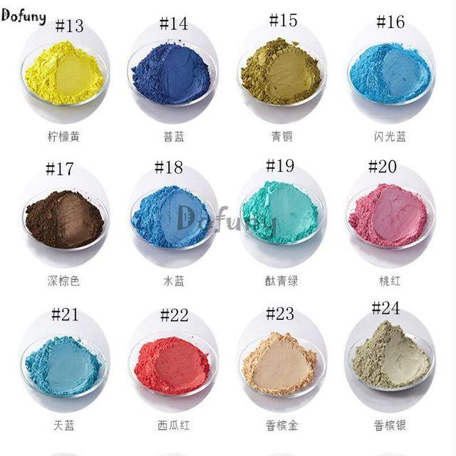 Beaucoup De Couleurs Poudre Nacrée Pigment Pour Voiture Peinture