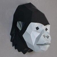 Элегантный геометрический роспись животных Настенный декор обезьяна горилл Лев лошадь украшения аксессуары для дома Имитация животного