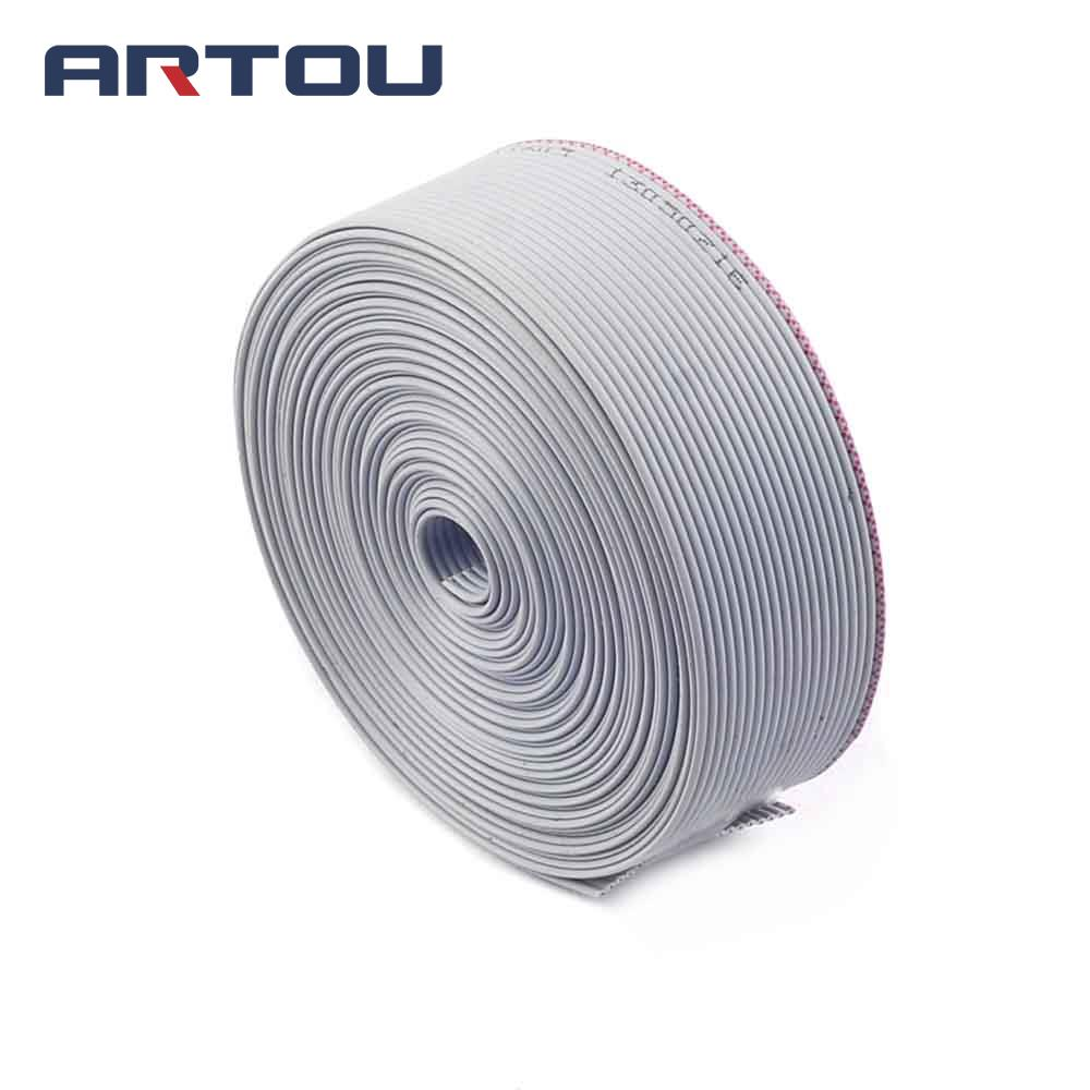 1meter 20 Pin 1.27mm Spacing 2.54mm Pitch 20P Extension Flat  Grey Ribbon Cable Wires For Raspber PI GPIO