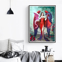 5D Goddess and Dragon Embroidery Painting Rhinestone Pasted DIY Diamond Painting