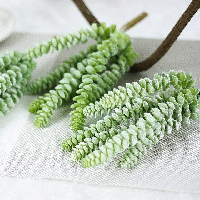 5 Шт. Моделирования Суккуленты искусственные цветы украшения мини зеленый Искусственные Суккуленты Растения садовые украшения