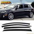 For 10 11 12 13 14 Volkswagen Golf 6 MK6 Window Visors Rain Vent UV Resistant 4PCS