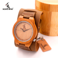 BOBOBIRD Men's Luxulry Brand Designer Watch Vintage Wood Watches Leather Band Quartz Watches in Gift Box