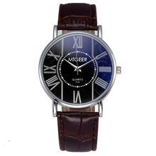 Hot selling Men Watches Brand Bracelet Watch Leather Strap Fashion Casual Man Quartz watch Hodinky montre femme Hot Sale 4/