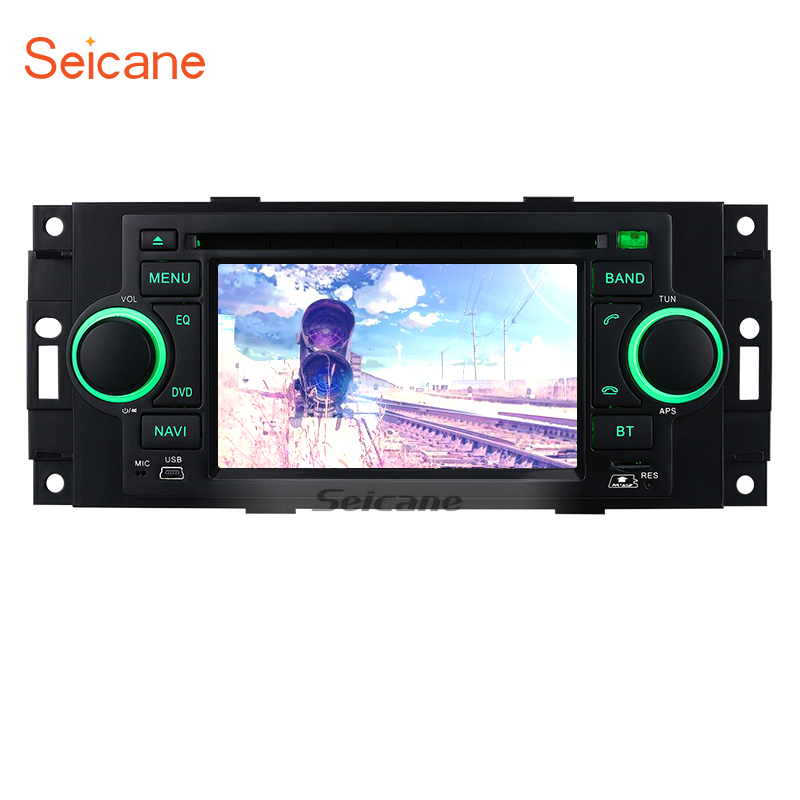 Seicane 5 2 din wince 6,0 800*480 сенсорный экран DVD автомагнитолы 800*480 gps Nav для jeep Commander Compass X Поддержка IPOD USB DAB