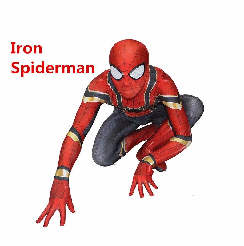 Spiderman Homecoming Cosplay Costume Zentai Iron Spider Man Superhero Bodysuit Suit Jumpsuits for Halloween Purim costume