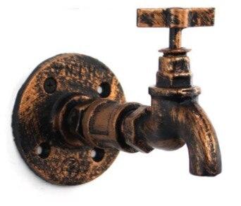 Image 2 - 2PCS/LOT   Vintage Flange Base Tap faucet Industrial Style Clothes Bag Hanger Hook  Loft-in Hooks & Rails from Home & Garden