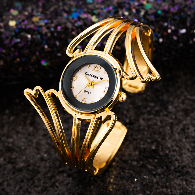 2018 New Fashion Wings Design Bracelet Watch Full Steel Quartz Watch Women Cuff
