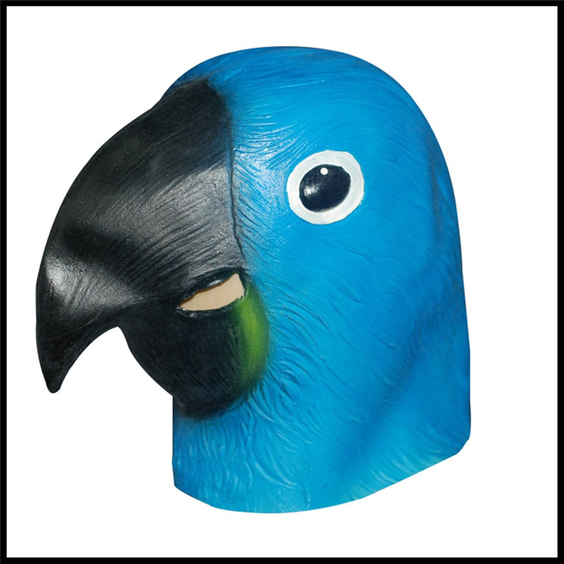 New Blue Parrot Realistic Animal Masquerade Party Masks For
