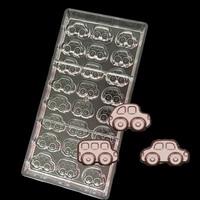 3 Tipo di Auto a forma di PC Policarbonato Duro di Plastica Stampo per DIY Cioccolato fatto in Casa di Ghiaccio Fondente Della Muffa