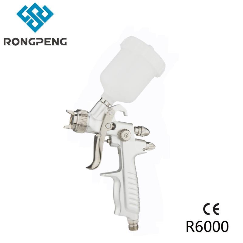 цена на RONGPENG HVLP AIR SPRAY GUN R6000 1.0MM 100CC Match Top Grade Auto Repair Spray Gun Air Bush Spray gun for painting car