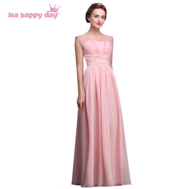 Plus Size Formal Vestidos De Festas Latest Women Floor Length Pink