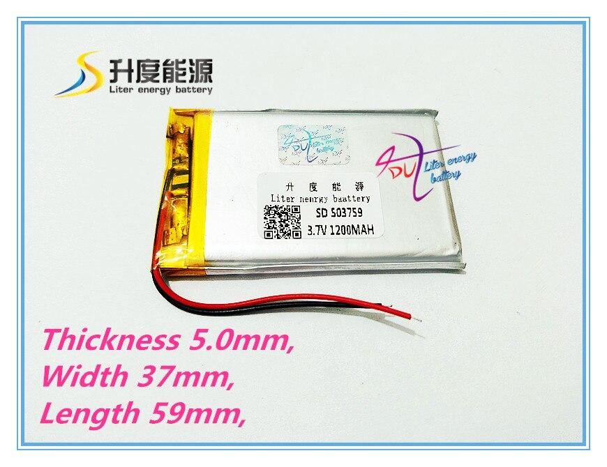 503759 GPS Navigator MP3 MP4 3.7V 1200 -capacity polymer lithium battery tablet battery 864050 polymer battery 3 7v lithium battery capacity 1800mah new mp4 mid navigation