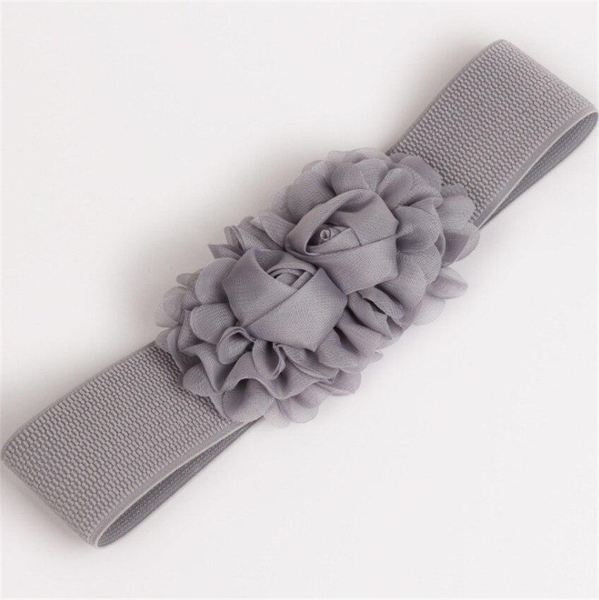 EVER FAIRY Women Fashion Flower Belt Girl Belt Elastic Lady Belts Sash Wedding Girl Buckle Waistband Flower Belt Accessories