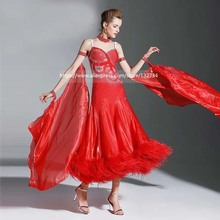 Modern Waltz dancing dress Tango Ballroom Dance Dress, Smooth Ballroom Dress, Standard Ballroom Dress