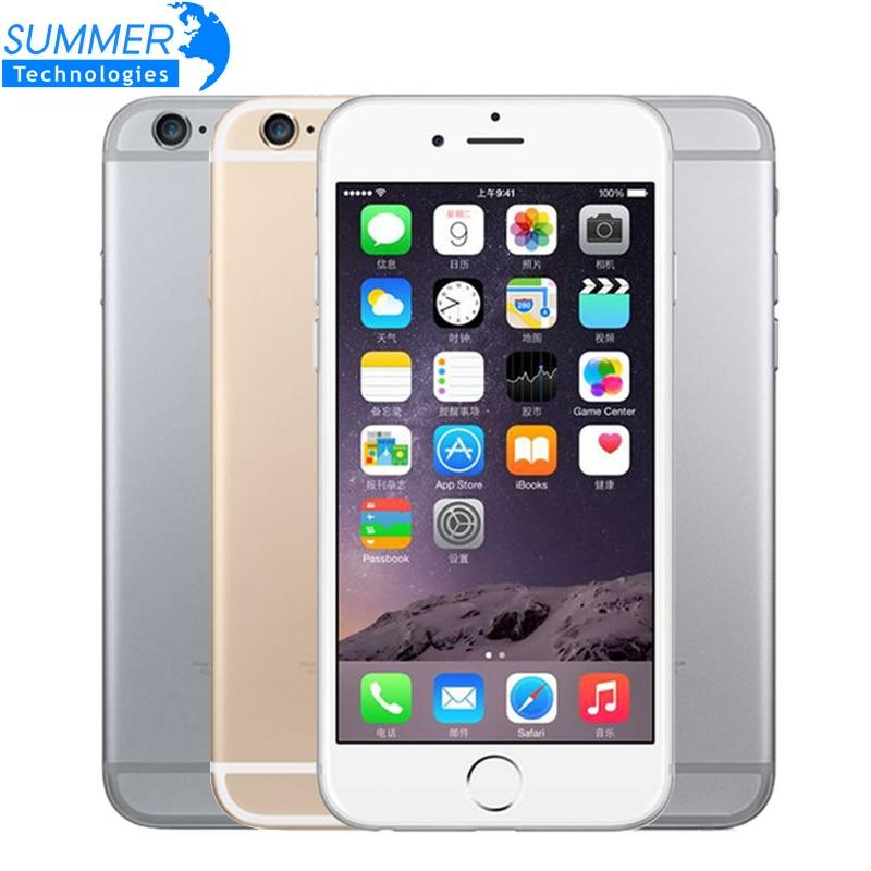 Original desbloqueado apple iphone 6 celular ios duplo núcleo lte 4.7