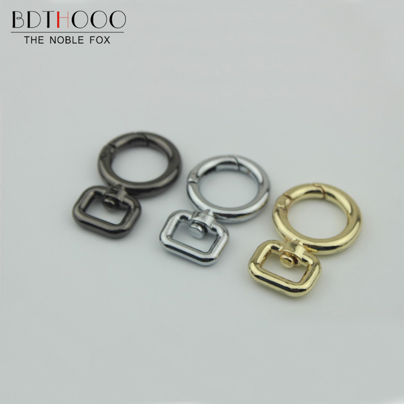 BDTHOOO 10PCS Metal Swivel Snap Hook Clasp DIY Bag Fastener Hook 1.2cm Open Coil Connection Buckle Key Ring Handbag Hardware цена