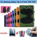Heavy Duty Armor Kickstand Silicone Cover For Samsung Galaxy Tab A 9.7 T550 T555 Case for Tab A 9.7 S-Pen Version P550 P555 Case