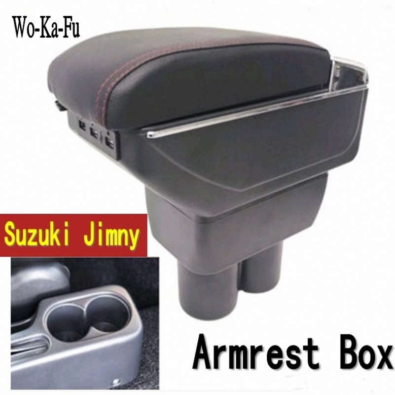 For Suzuki Jimny armrest box central Store content Storage box with cup holder ashtray products universal leather car armrest central store content storage box with cup holder center console armrests free shipping