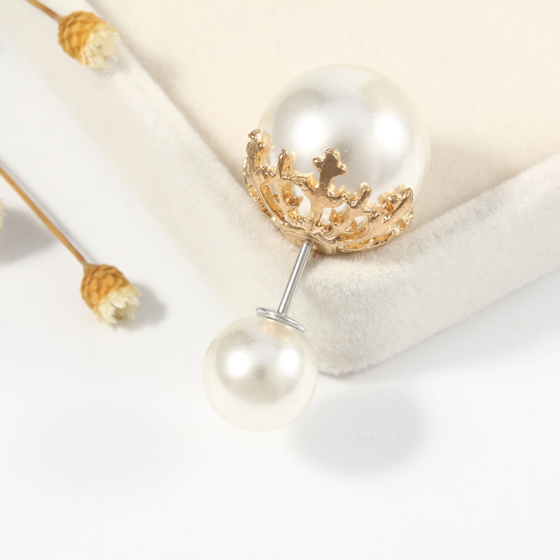 19 High Quality Vintage Gold Brooch Pins Double Head Simulation Pearl Large Big Brooches For Women Wedding Jewelry Accessories 8