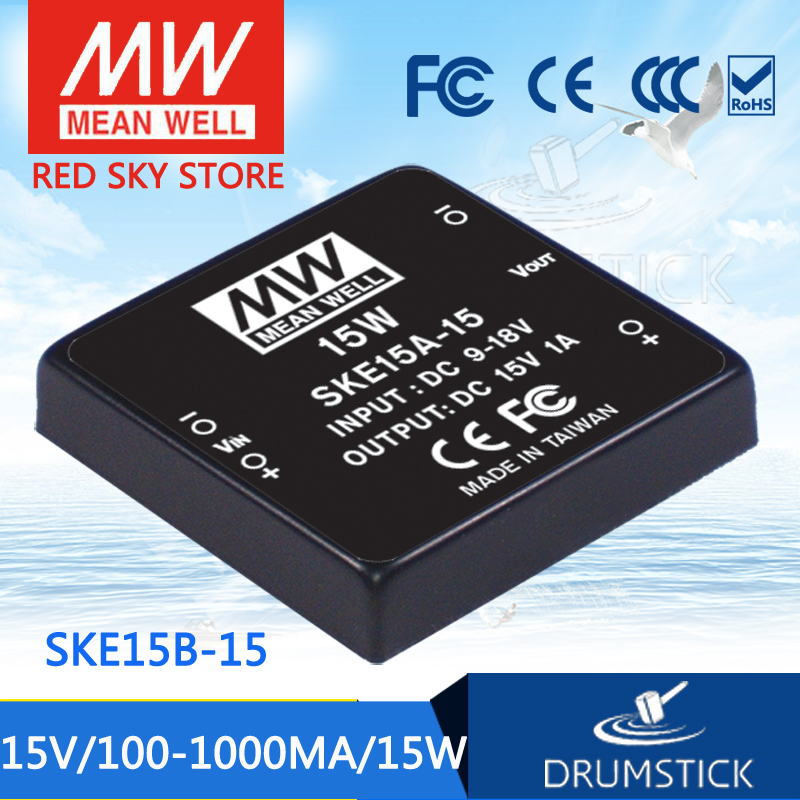 Advantages MEAN WELL original SKE15B-15 15V 1000mA meanwell SKE15 15V 15W DC-DC Regulated Single Output Converter advantages mean well ske15c 12 12v 1250ma meanwell ske15 12v 15w dc dc regulated single output converter