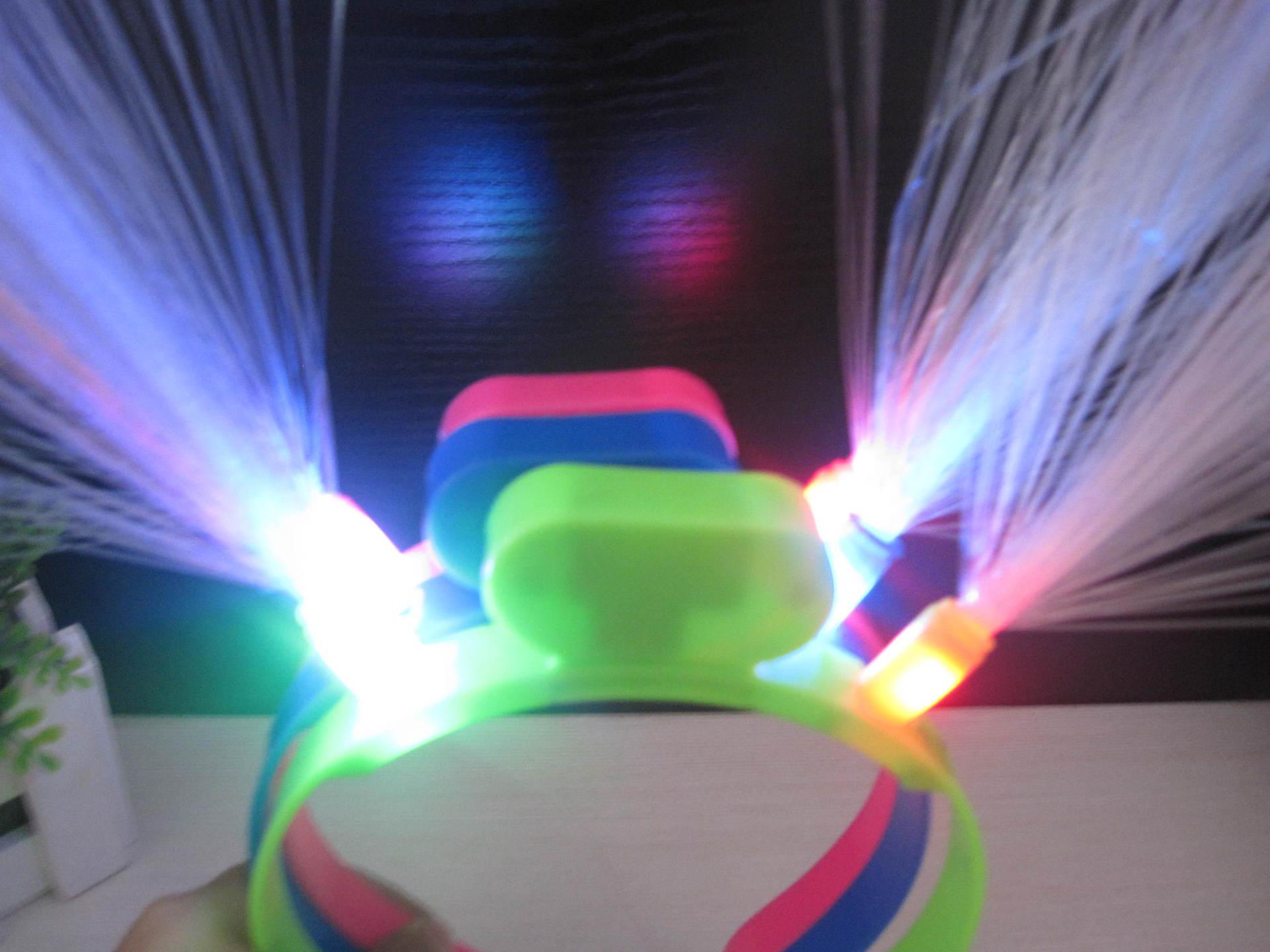 20pcs / lot Svijetleći LED vlakna rog stranka žare traka za kosu - Za blagdane i zabave - Foto 6