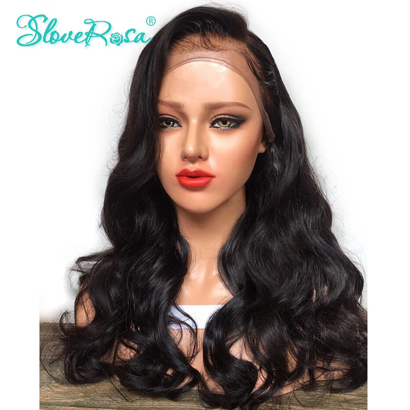 Peruvian Body Wave Lace Wigs 100% Human Hair Wigs Remy Hair Pre Plucked With Baby Hair Slove Rosa Glueness Hair Wigs For Women(China)