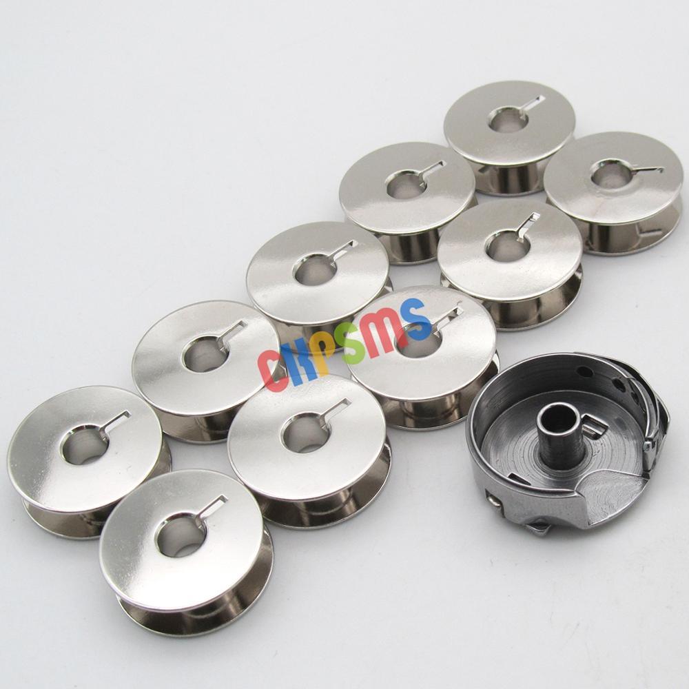 Image 2 - 1PCS BOBBIN CASE &10 PCS BOBBINS fit for Bernina 117, 217,317,517, 540,542,544,640,740,750, 850, 950Sewing Tools & Accessory   -