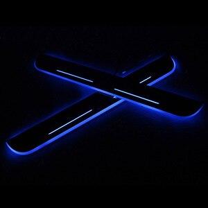 SNCN LED Автомобильная Накладка педаль порога тропа движущийся Добро пожаловать Свет для Hyundai I30 2015 2016 2017 2018 значок эмблема