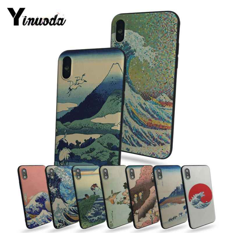 Yinuoda Hokusai The Great Wave off Kanagawa pictures Soft Rubber Black Phone Case For iphone 8 8plus 7 7plus 6 6plus 5 5s 5c SE
