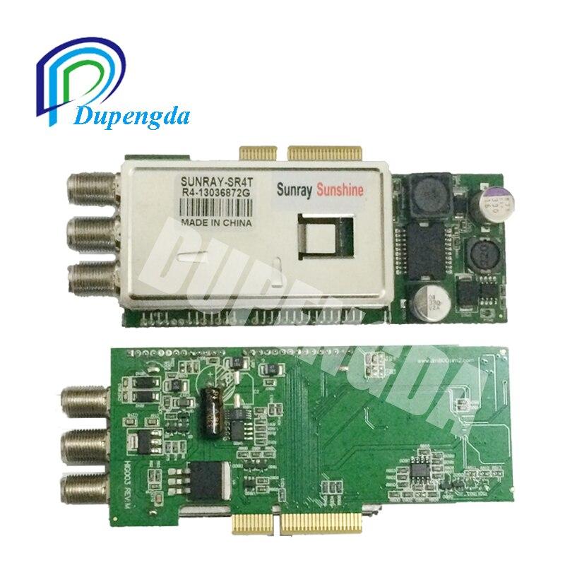 Sunray SR4 Triple Tuner for DM800HD SE DM 800 HD Se DVB-S2/-C2/-T2 Receiver 3 in 1 Tuner sunray sr4 800HD SE free shipping azbox premium hd plus twin tuner receiver 2 dvb s2 tuner