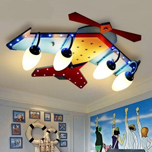 Simple creative children ceiling boy cartoon girl bedroom kindergarten led Ceiling Lights airplane lamps and lan LU628 ZL437
