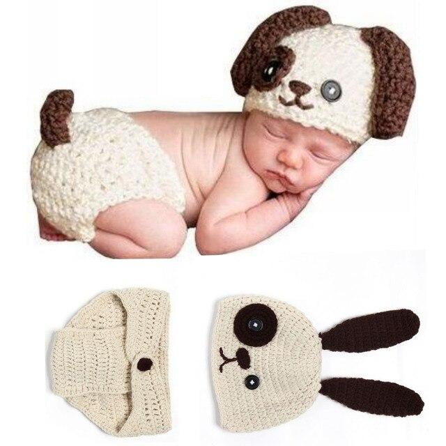 5d830d5e4b Simpatico Cane Del Bambino Del Bambino di Stile Cane Handmade Crochet  Vestiti Infantili Neonato Photography Prop