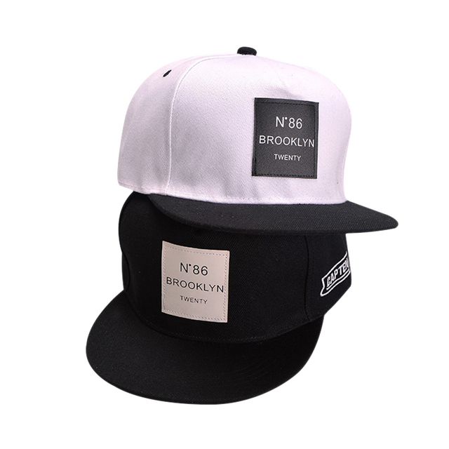 24c2f2ba3 US $2.85 |Men Women BROOKLYN Letters Solid Color Patch Baseball Cap Hip Hop  Caps Leather Sunshade Sun Hat Snapback Hats Unisex-in Baseball Caps from ...