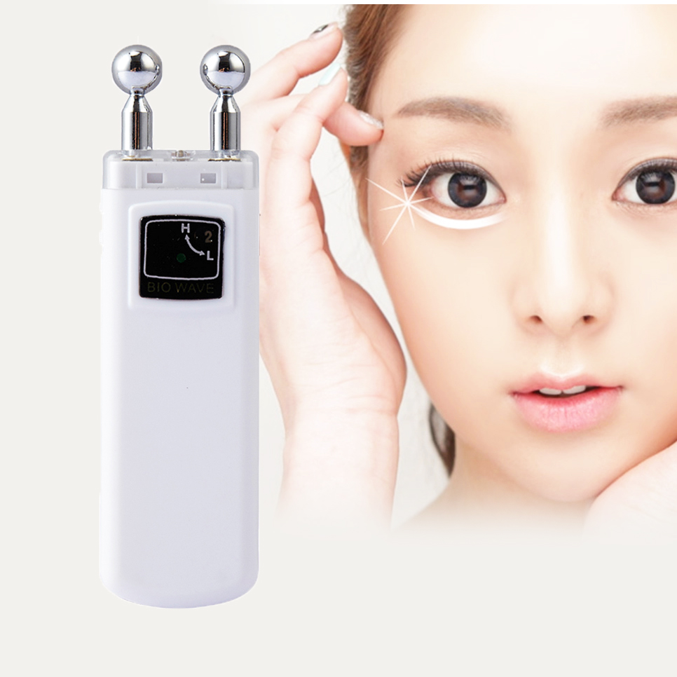 Portable Microcurrent Eye Massager Under-eye Bags Crow's feet Wrinkle Removal Skin Lift Eye Care Beauty Device free shipping new air pressure eye massager with mp3 6 functions dispel eye bags eye magnetic far infrared heating eye care
