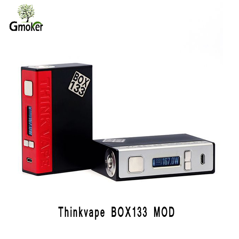 Original electronic cigarette Thinkvape BOX133 mod vape TC mode Dual 18650 battery electronic cigarette box mod vaper VS rx 2/3