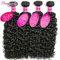 8A Indian Water Wave Virgin Hair 4 Bundles Indian Curly Virgin Hair Raw Curly Weave Human Hair Bundles Wet and Wavy Indian Hair