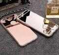 Случаях Для iPhone 5 5s SE 6 6 s 7 Плюс Роскошный Зеркало ТПУ капа Мягкий Силиконовый Case Защитная Крышка Shell Для iPhone 7 Plus 4 4S