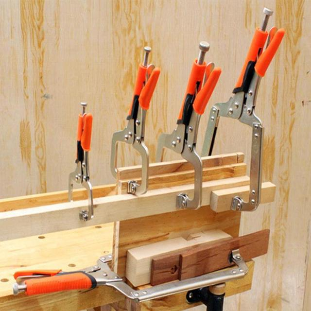 """Steel C Type Clip Vise Grip Locking Plier Multi-function Woodworking Clamps Clips 6"""" 9"""" 11"""" 14"""" 18""""inches Face Clamp Hand Tools"""